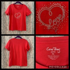Coral Bay Tee LOVE Size PS
